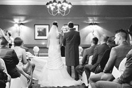 Experience a unique crown wedding at our intimate wedding veneu
