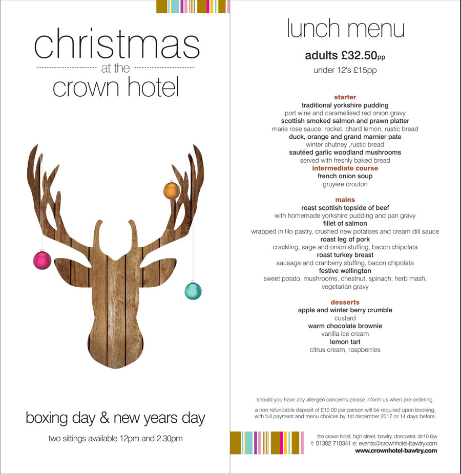 boxing and new year's day at the crown hotel bawtry