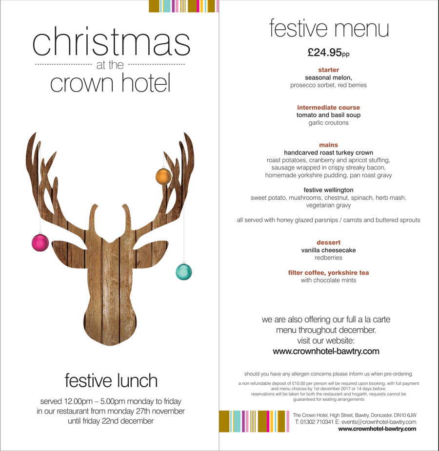 festive lunch at the crown hotel bawtry
