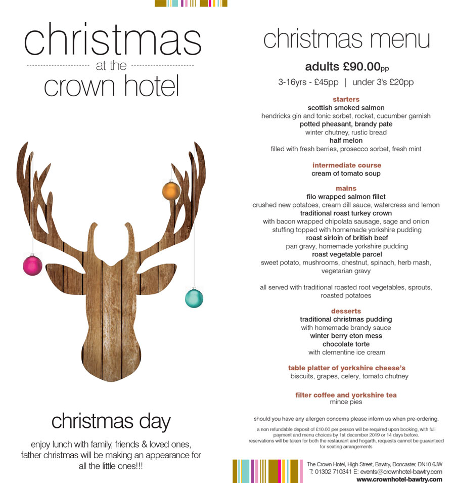 Christmas day at the crown hotel bawtry