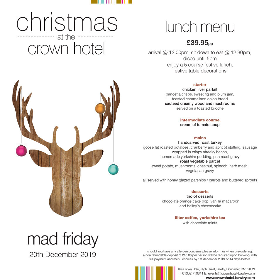 mad friday at the crown hotel