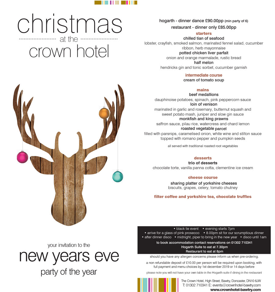 new year's eve at the crown hotel bawtry
