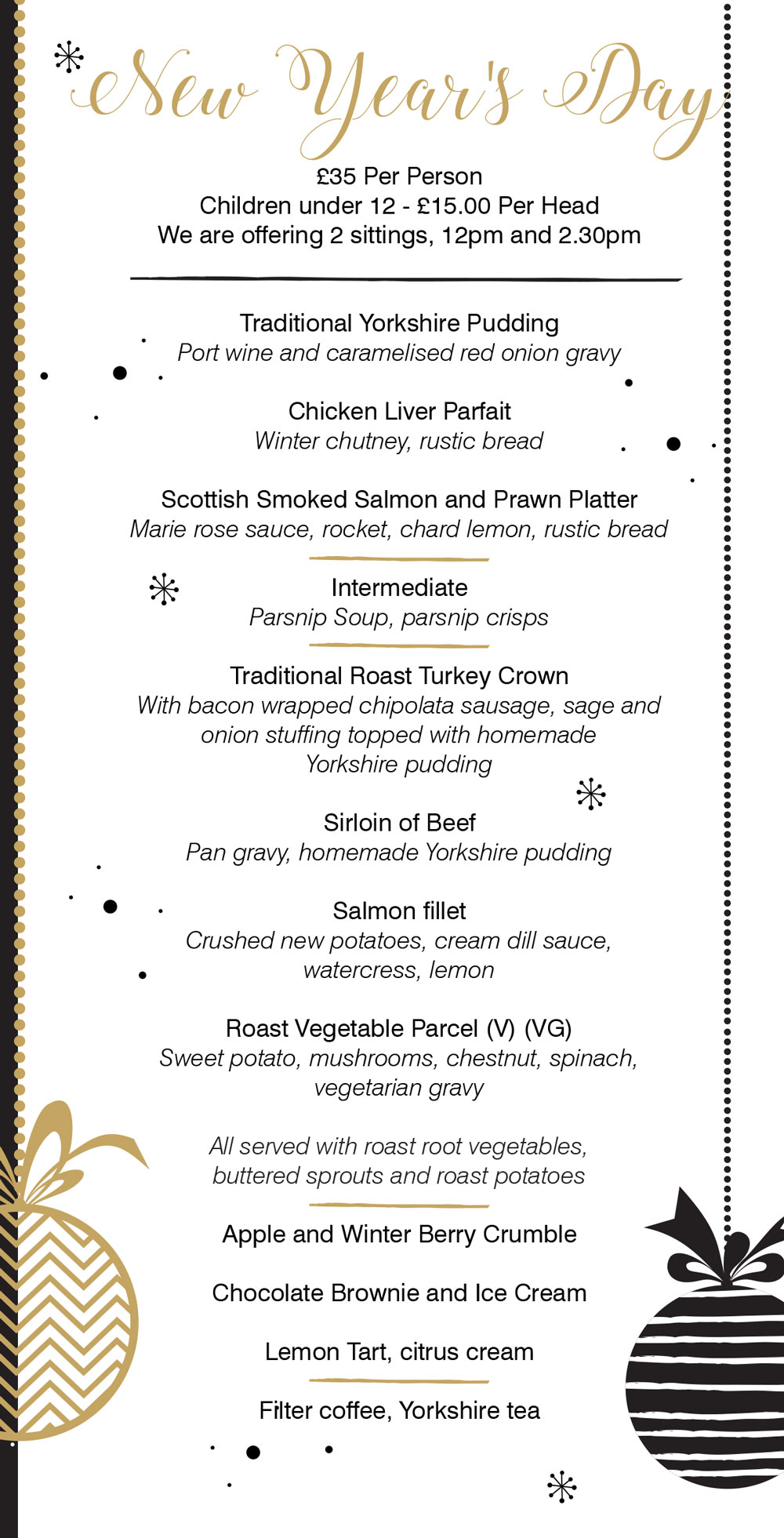 New year's day at the crown hotel bawtry